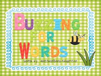 Buzzing For Words (Parts of Speech Sorting) Common Core Aligned