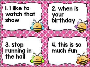 Buzzing Good Sentences: Four Types of Sentences Center
