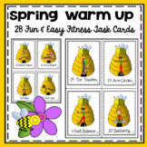 PE Warm Up Spring Fitness Task Cards