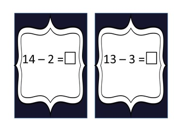 Subtraction Flashcards (10-12)