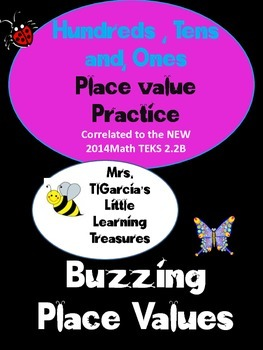 Buzzing Place Value :Hundreds, Tens, and Ones practice sheets