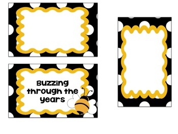 Buzzing Through the Years (Editable)