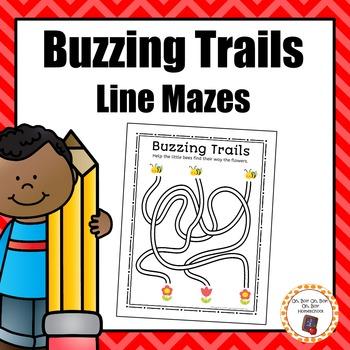 Buzzing Trails Line Mazes
