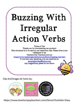 Buzzing With Irregular Action Verbs