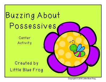 Buzzing about Possessives-a center activity
