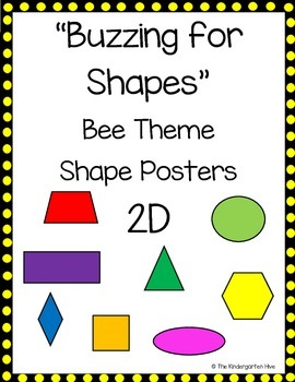 Buzzing for Shapes Bee Theme 2D Posters