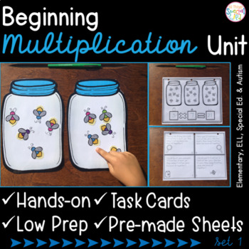 #spedchristmas3 Beginning Multiplication - Set 1-  for Elementary and Special Ed
