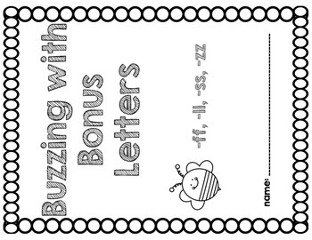Buzzing with Bonus Letters (Teaching Final Double Consonants - ff, ll, ss, zz)