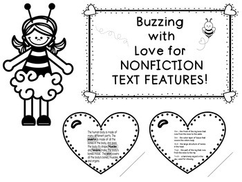 Buzzing with Love for Nonfiction Text Features Craftivity