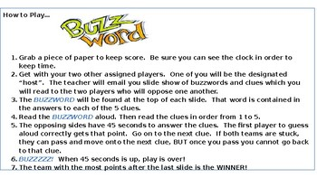Buzzword: Vocabulary Game