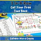 Buzzy Bee 3 In-A-Row (editable word game)
