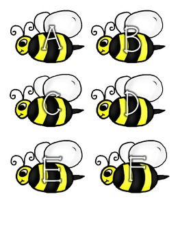 Buzzy Bee Letter Match