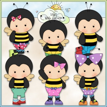 Buzzy Bees 1 - Commercial Use Clip Art & Black & White Images