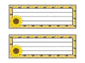 Bee Themed Classroom Label Set {Editable}