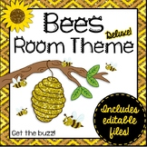 Bees Room Theme Classroom Decor {Editable}