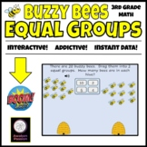 Buzzy Bees Equal Groups 3rd grade math on Boom Cards