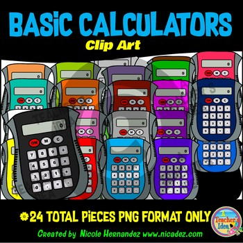 Calculator Clip Art for Teachers