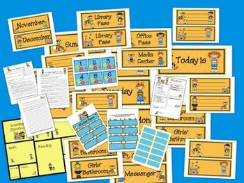 Buzzy Friends Bee Theme Classroom Bundle