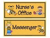 Buzzy Friends (Bee) Theme Classroom Passes Set