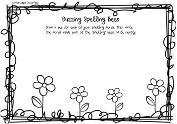 Buzzy spelling bees