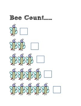 Busy Bee Theme Worksheets