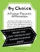A Foster Parent's Affirmation (Professional Development)