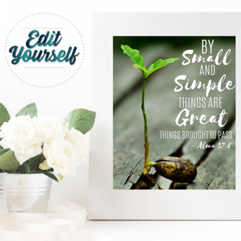 By Small and Simple Things Printable - INSTANT DOWNLOAD