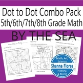 By The Sea Combo Pack: Mermaid, Sandcastle, & Island Dot to Dot, Ordered Pairs