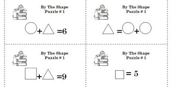 Solving Equations - BY THE SHAPES