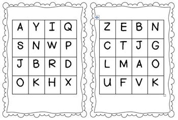 By Yourself Letter Match Bingo!