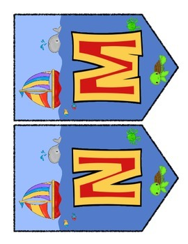By the Beach Chevron Banner Set - 2 Complimentary Designs for the Classroom