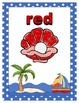 By the Beach Theme Color Wall Decor - Color Flash Cards wi