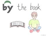 By the Book Cartoon--Printable Montessori Preposition/Gram