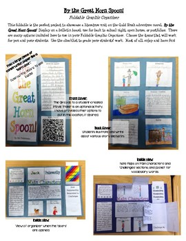 By the Great Horn Spoon!  Foldable Graphic Organizer Book Project