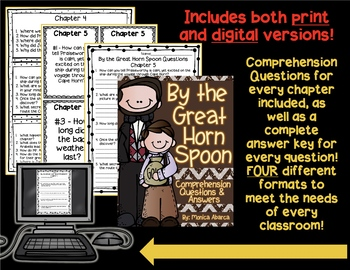 By the Great Horn Spoon Chapter Activities AND Comprehension Questions