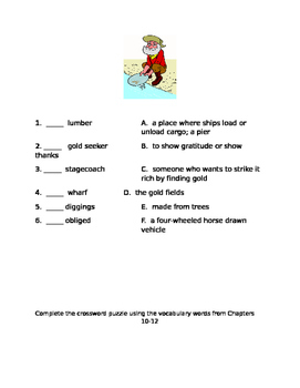 By the Great Horn Spoon Vocabulary Activities