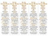 By the Great Horn Spoon edition of Bookmarks Plus: Fun Freebie/Handy Reading Aid