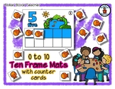 By the Pond - Ten Frame Mats 0 to 10 & Counter Cards