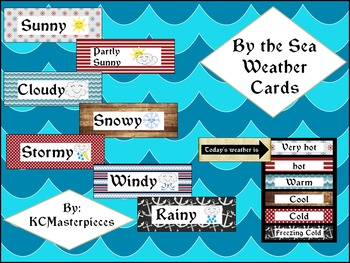 By the Sea Weather Cards