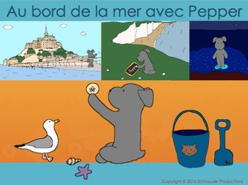 By the Sea with Pepper in French