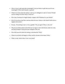 By the Shores of Silver Lake Novel Study- Comprehension questions