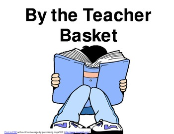 By the Teacher Basket Poster