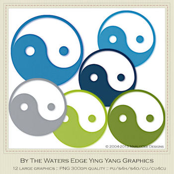 By the Waters Edge Ying Yang Graphics by MarloDee Designs