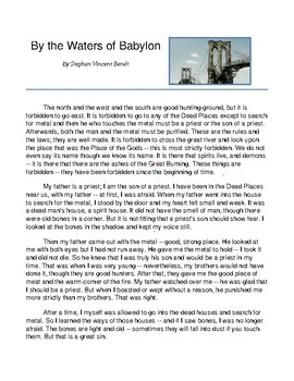 """By the Waters of Babylon"" Close Reading Pack"