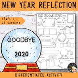 New Year Writing Activity Level 1 - Bye Bye 2018
