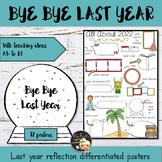 New Year Writing Activity - Bye Bye 2018