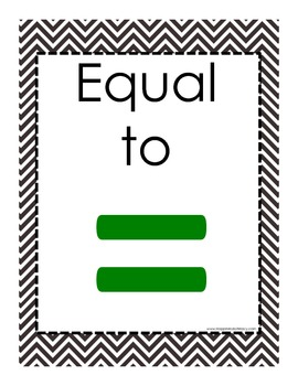 Bye-Bye Alligator: Posters for Teaching Greater /Less/Equal The Common Core Way