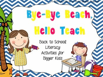 Bye Bye Beach, Hello Teach {Back to School Literacy Activities for Bigger Kids}