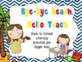 Bye Bye Beach, Hello Teach {Back to School Literacy Activi