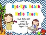 Bye Bye Beach, Hello Teach {Back to School Literacy Activi